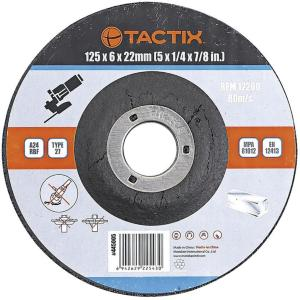 Tactix slipeskive metall 125 mm