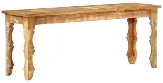 vidaXL Benk 110x35x45 cm gjenvunnet heltre