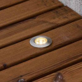 Spot for bakke LED, 6-pakn med 10m kabel, IP44, 12V, 6W, Mål: 3,5x3,5x4CM, 3000K, varmt hvitt lys