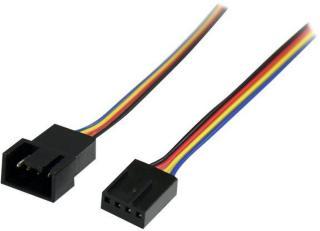 StarTech 12in 4 Pin Fan Power Extension Cable - M/F - Fan power extension cable - 4 pin PWM (M) to 4 pin PWM (F) - FAN4EXT12 - forlengelseskabel for viftestrømforsyning - 3 m (FAN4EXT12)