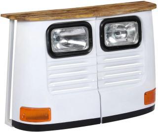 Skjenk med bildesign heltre mango hvit -