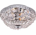 ibiza taklampe 42 cm krystall og krom