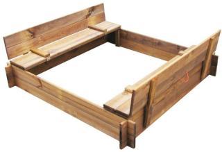 Sandkasse firkantet tre