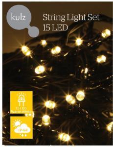 KULZ LYSSLYNGE 15 LED, VARM HVIT