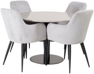 NORDFORM Spisegruppe Ruben og 4 stk Comfort stoler Unisex Grå grå