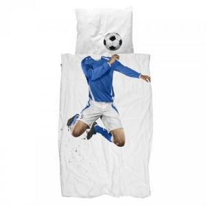 Sengesett Fotballspiller, 150 x 210, Blå, Snurk