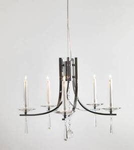 Eglo Märtha Tak Krom / Glass Justerbar 75-140cm 5 Lyskilder
