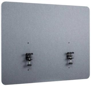 IIGLO ergo acoustic desktop sidepanel Gray, 120x60x2 cm, clamp bases, double sided tackable fabric (IIERGOAP017)