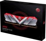 ADATA XPG GAMMIX D30 - DDR4 - 16 GB: 2 x 8 GB - DIMM 288-pin - 3200 MHz / PC4-25600 - CL16 - 1.35 V - ikke-bufret - ikke-ECC - glossy gray with translucent red top cover (AX4U320038G16-DR30)