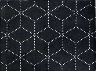 Hagl Black dørmatte 85x115 cm Heymat