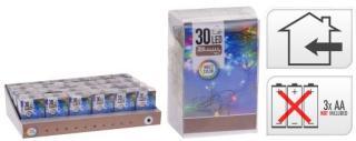 KOOPMAN Lysslynge led 30lys batteri multifarget m/3mm pære inne