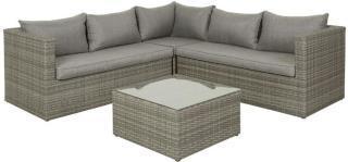 Korfu sofagruppe lys grå