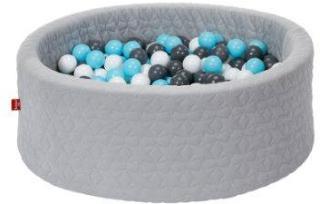knorr® leker ballbad mykt - Koselig geo grått inkludert 300 baller krem ??/ grå / lys blå