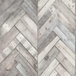 DUTCH WALLCOVERINGS Veggpanel tre/fiskebeinmønster grå 7361-1