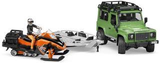 Bruder Land Rover med henger og snøscooter 02594
