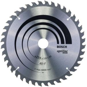 Bosch sirkelsagblad ø254x30mm 40t 20gr tre