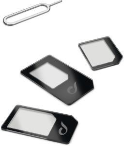 Cellularline CL Universal SIM Adapter 3 i 1 Nano og Micro SIM adapter (UNIVERSALSIMADAPT)