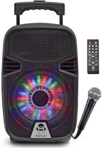 iDance Groove 214 MK2 - 41 cm stor karaoke høyttaler med 8-tommers høyttaler med bluetooth