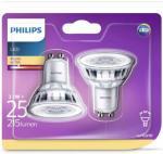 Philips LED-spotlyspærer 2 stk Classic 3,1 W 215 Lumens 929001217531