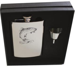 Stabilotherm Pocket Flask 0,2 L + Gift Box, Trout, OneSize