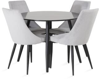 Pelle bord med Ludde Stol 4 stk -