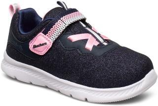 Skechers Girls Comfy Flex 2.0 Sneakers Sko Blå Skechers