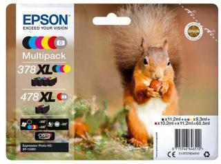 Epson 478XL Multipack - 6 pakker - høj kapacitet - grå sort gul cyan magenta rød - original - blækpatron - Blekkpatron Grey C13T379D4010
