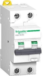 Schneider Electric Schneider Jordfeilautomat IC60 2P 32A 30MA C 10kA 1600914 Jordfeilautomat