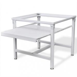 Pidestall for vaskemaskin med utrekkbar skuff Hvit