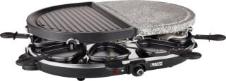 Princess Raclette 8 Oval Stone&Grill Party