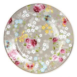 Dekketallerken/kakefat Pip Khaki 32 cm. porselen