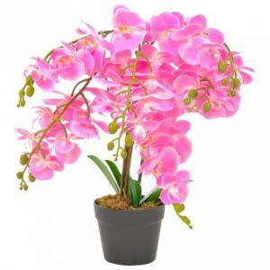 Kunstig plante orkidè med potte rosa - 60 cm