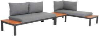 Nordic Furniture Group Hjørnesofa Coro inkl. bord Unisex Grå