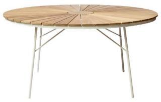 Cinas - Hard&Ellen Garden TableØ 150 cm - Aluminium/Teak (2522009) Teak  AB2KE5