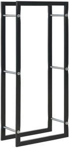 vidaXL Vedstativ svart 44x20x100 cm stål