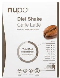 Nupo Diet Shake Caffe Latte - 384 G