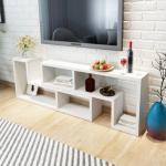 vidaXL TV-Benk Dobbel L-Formet Hvit