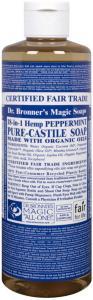 Dr. Bronner Flytende Såpe - Peppermynte - 472 ml