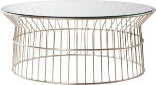 LANCIANO sofabord ø 100 cm  Glass/krom
