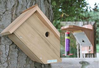 Fuglekasse kamera kit m/odd Box og foringsstasjon Farge HR kamerakit m/infrarød nattfunksjon
