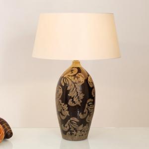 Bordlampe Toulouse rund, høyde 65 cm, svart
