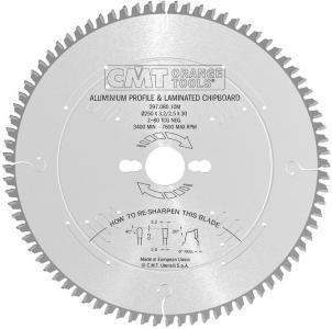 Sagblad for aluminium CMT 250x3.2x30 Z80 -6°