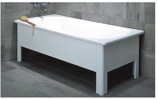 Svedbergs Emaljert badekar 1700x700 mm, Sort
