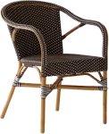 Sika Design Madeleine stol med armlene - Brun