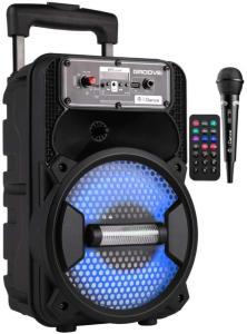 iDance Bluetooth karaoke høyttaler med diskolys og 100 watts bassrefleks