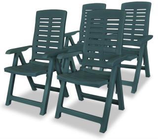 vidaXL Hagelenestoler 4 stk plast grønn