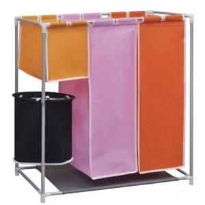 Skittentøyskurv 3-delt med vaskekurv