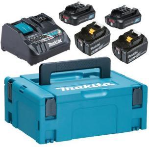 Makita Powerpack 199025-0 Ladepakke 2 stk. 2,0 Ah batterier, lader, bag
