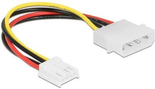 DELOCK Cable Power 4 pin male > 4 pin floppy female 15 cm (85337)
