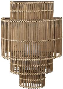 Bloomingville Vegglanterne m/ glass Bambus